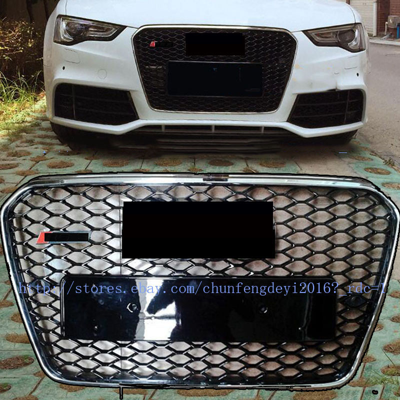 RS Style Front Grill Black Honeycomb Grille for Audi A5 S5
