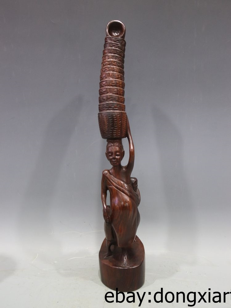 19 Chinese Redwood Handwork Africa Women Mother Son Sell bamboo