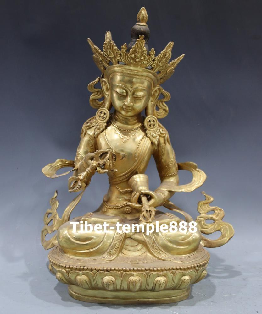 Tibet Tibetan Buddhism Bodhisattva Vajrasattva Buddha Brass Statue