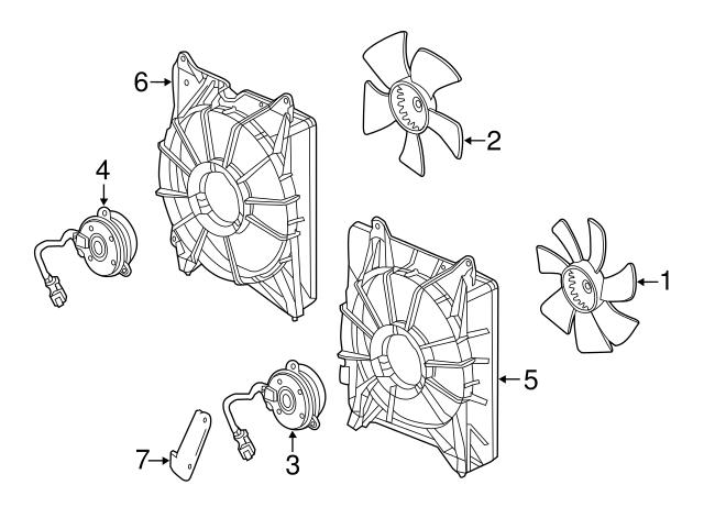 Engine Radiator Cooling Fan Motor For Honda Accord Acura Rdx 3 5l