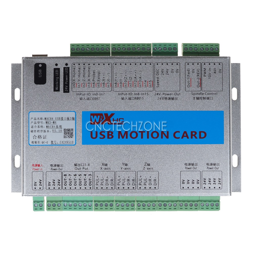 Usb 2mhz Mach4 Cnc 3 Axis Motion Control Card Breakout Board For Wiring Diagram Machine Centre