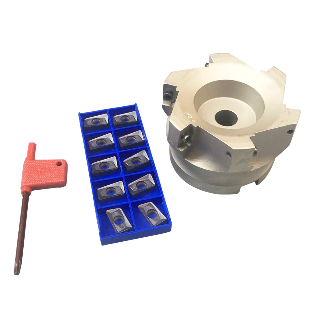 1Set BAP 400R-80-27-6F 6Flute Indexable Face End Mill Cutter+10x APMT1604PDER GT