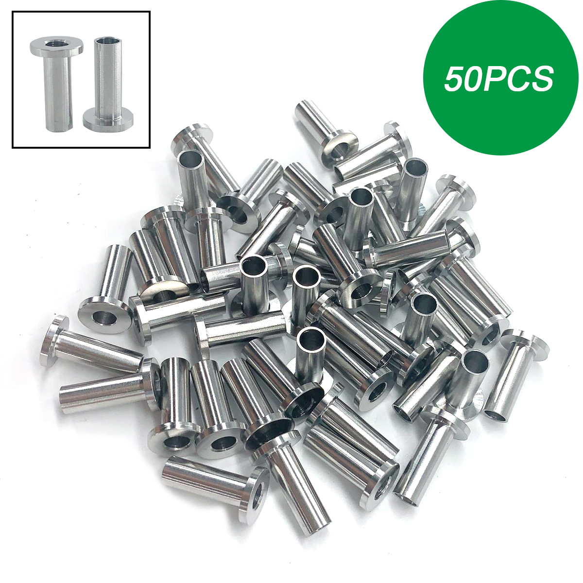 "100pcs T316 Stainless Steel Protective Protector Sleeves for 1//8/"" 5//32/"" 3//16/"""