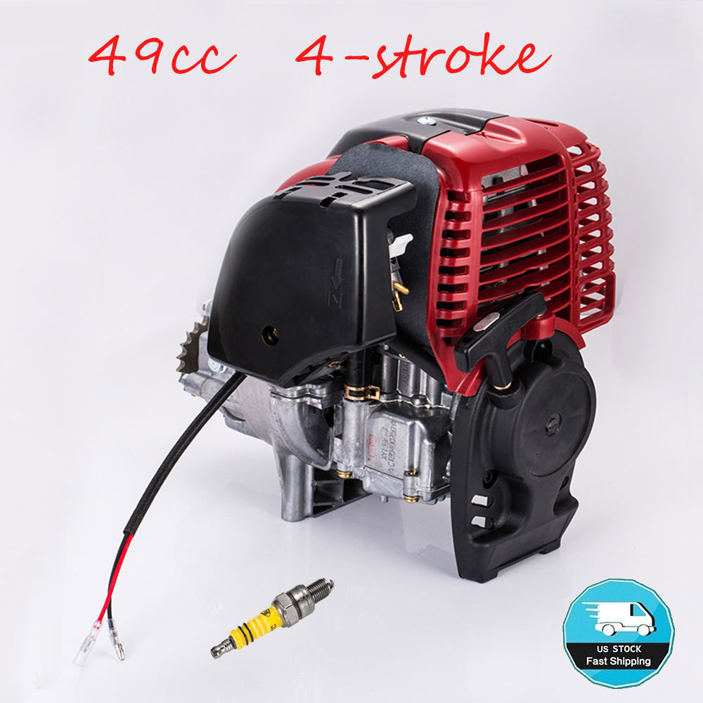 Details about 49CC 4-Stroke Gas Petrol Motorized Bike Bicycle DIY Engine  Motor ATV Scooter