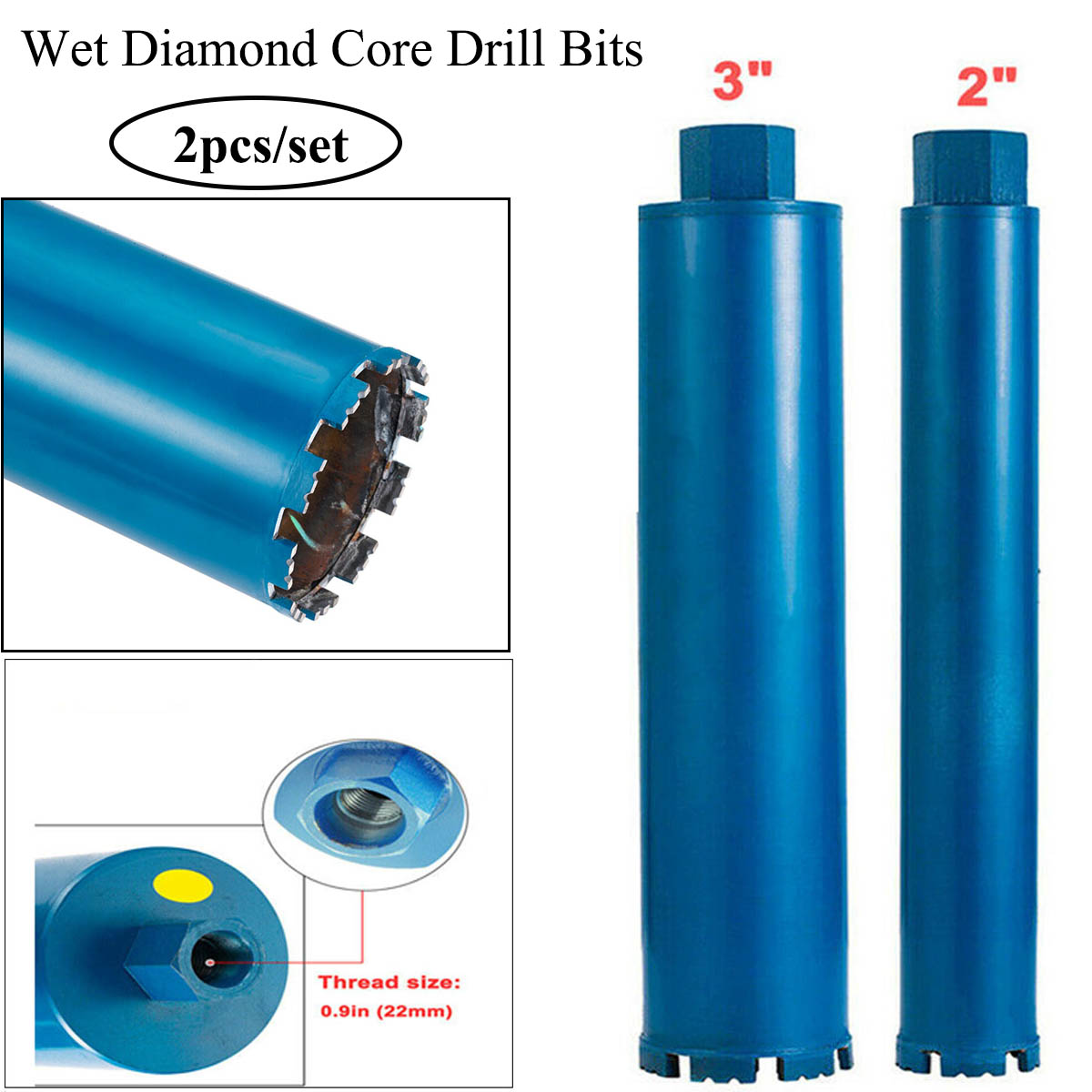 Diamond Core Drill Bits Wet 4 Reinforced concrete cured concrete asphalt