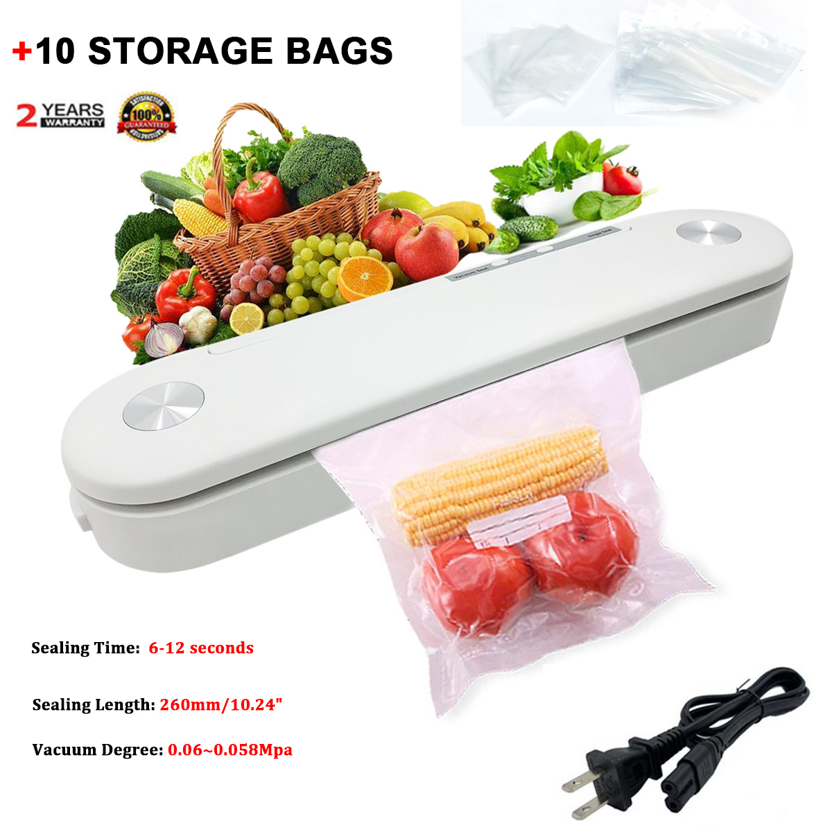 Vaccum Food Saver Storage Bags for Vacuum Sealer Home Kitchen Fresh Bag T