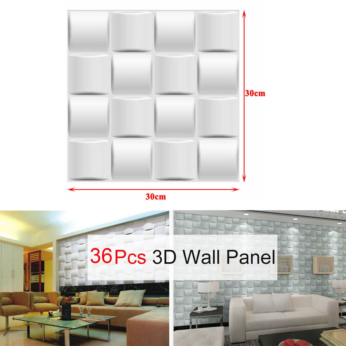 Details About 3d Wall Panel Pvc 3d Home Wall Decoration Diy Wall Decor White 36pcs Set 11 81