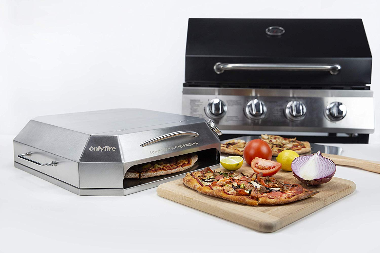 6053 Barbecue Parts Universal Stainless Steel Pizza Oven