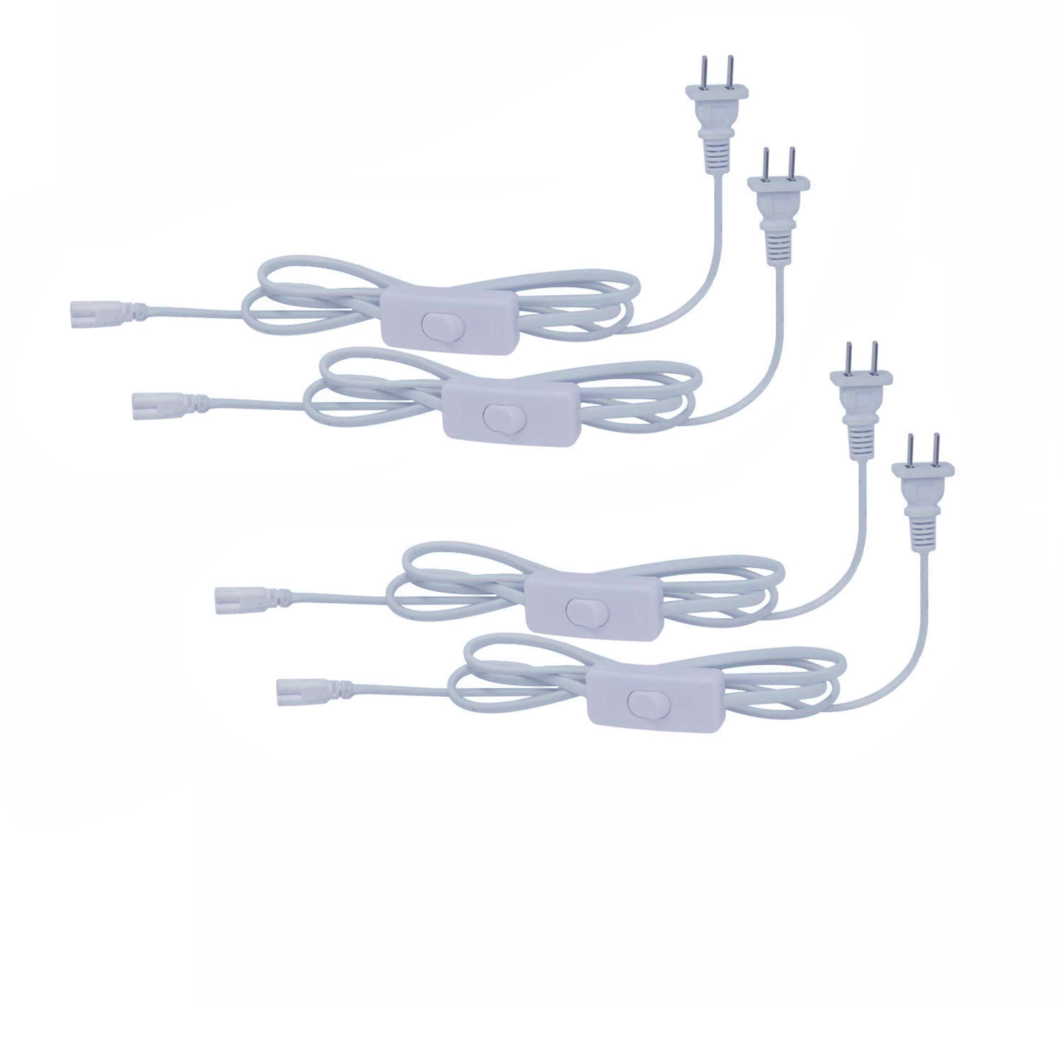 4-20 PCS 10FT Power Cords Cable With ON//OFF Switch for 3 Pin Integrated LED Tube