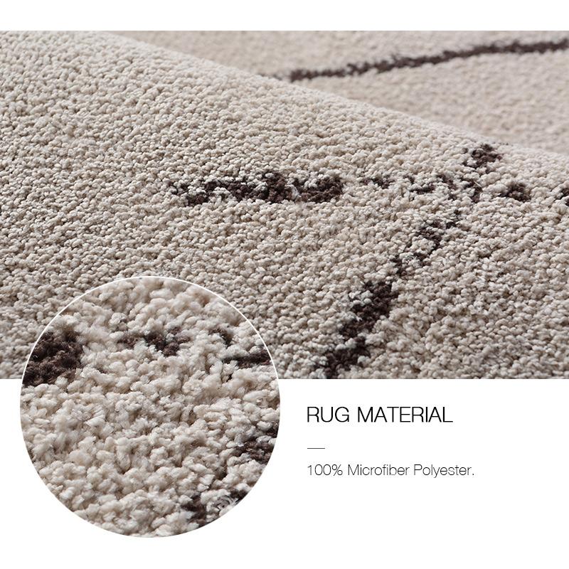 Tribal Rug Melbourne: Floor Rugs Beige Ivory Diamond Tribal Super Soft Dense