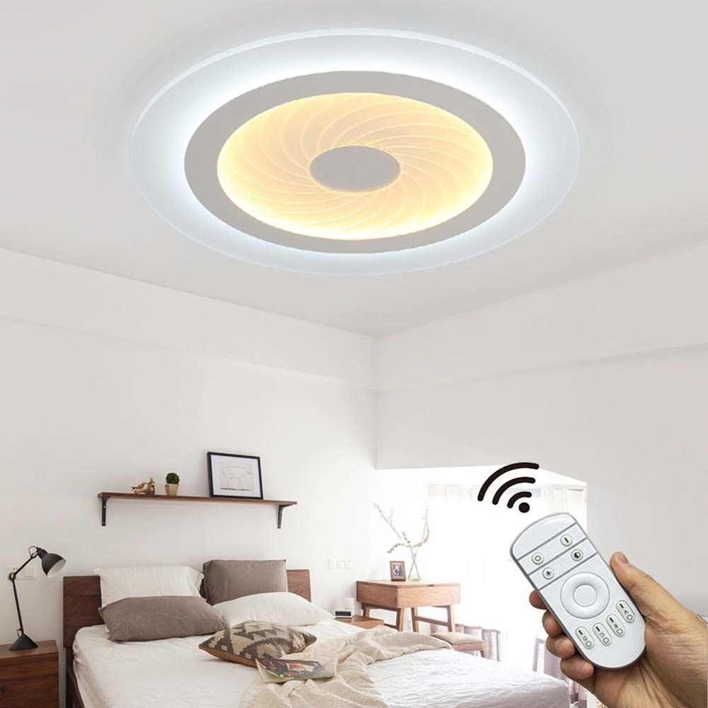 Details zu Natsen [36W-54W] Deckenlampe LED Weiß Deckenleuchte Schlafzimmer  Decken-leuchte