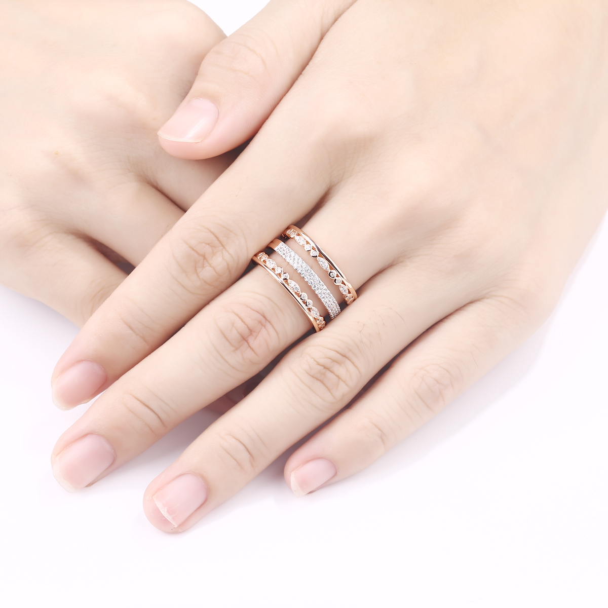 Eternity Ring Wedding Band For Women 925 Sterling Silver Rose Gold ...