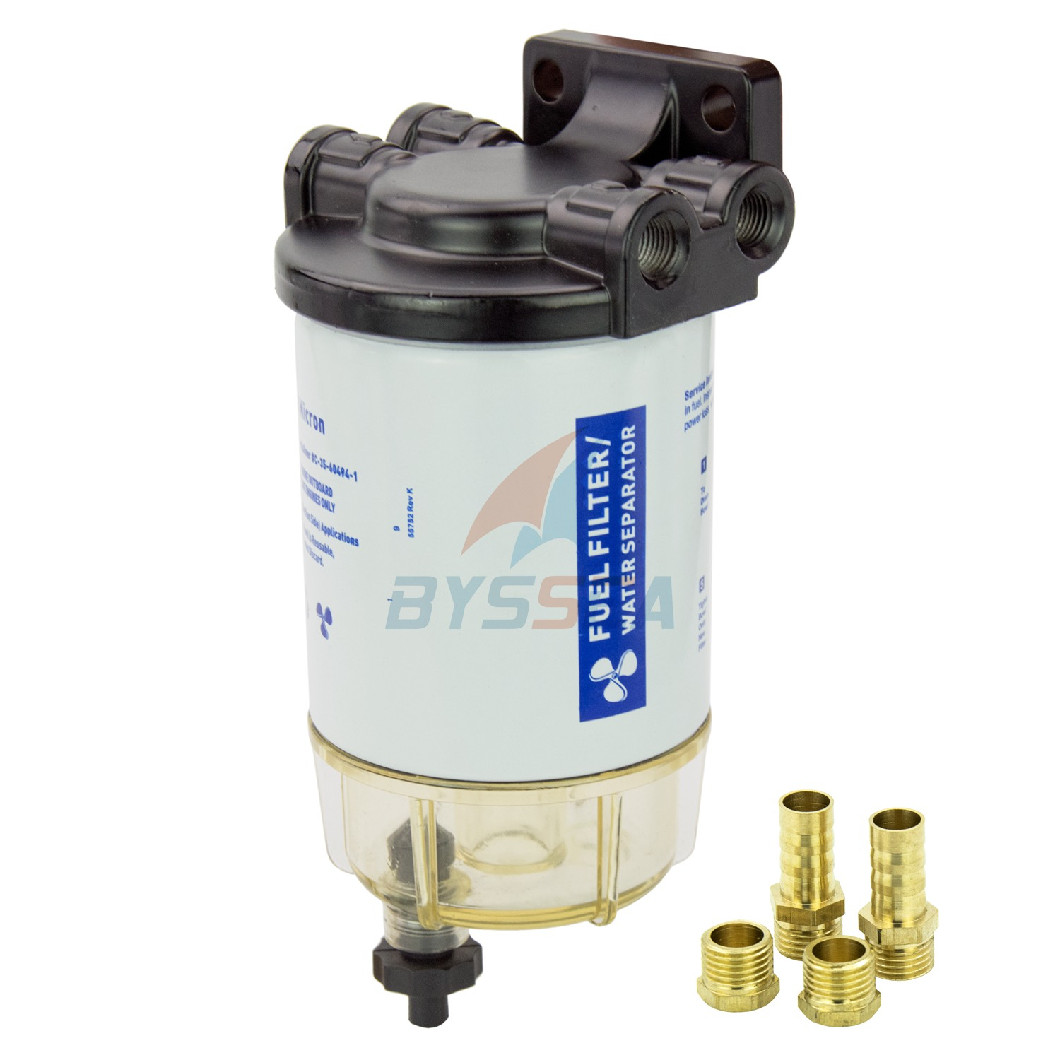 UNIVERSAL Boat Fuel Filter Marine Fuel Water Separator for Outboard
