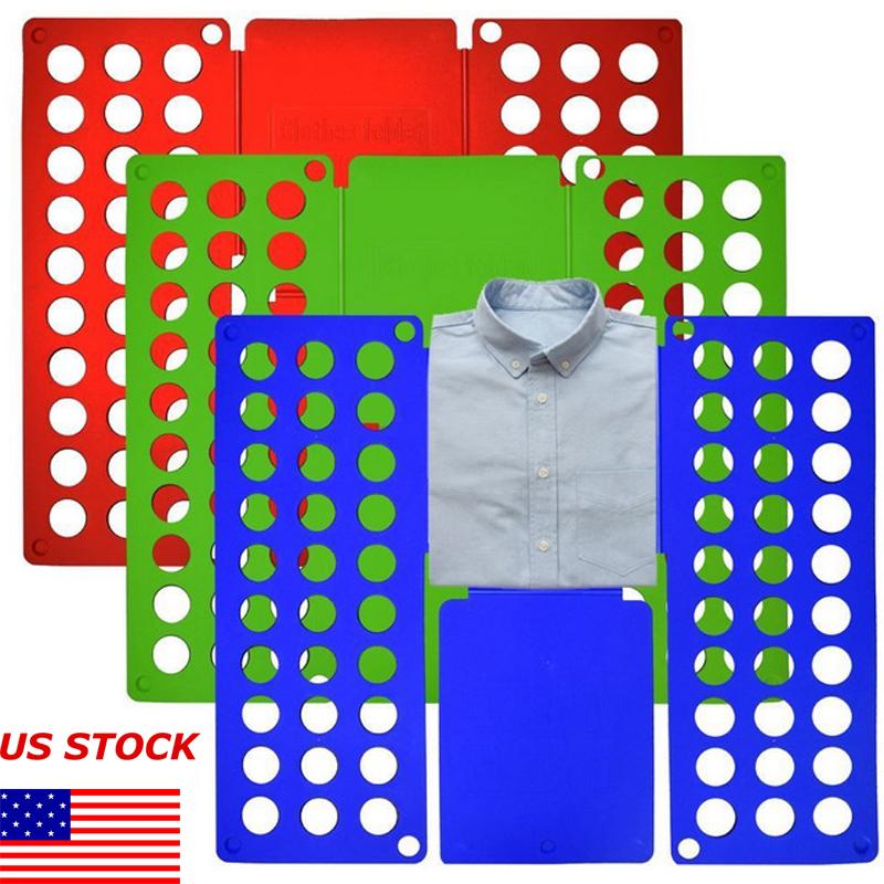 Clothes T-Shirt Folder Child Magic Folding Board Flip Fold Laundry Portable Usef