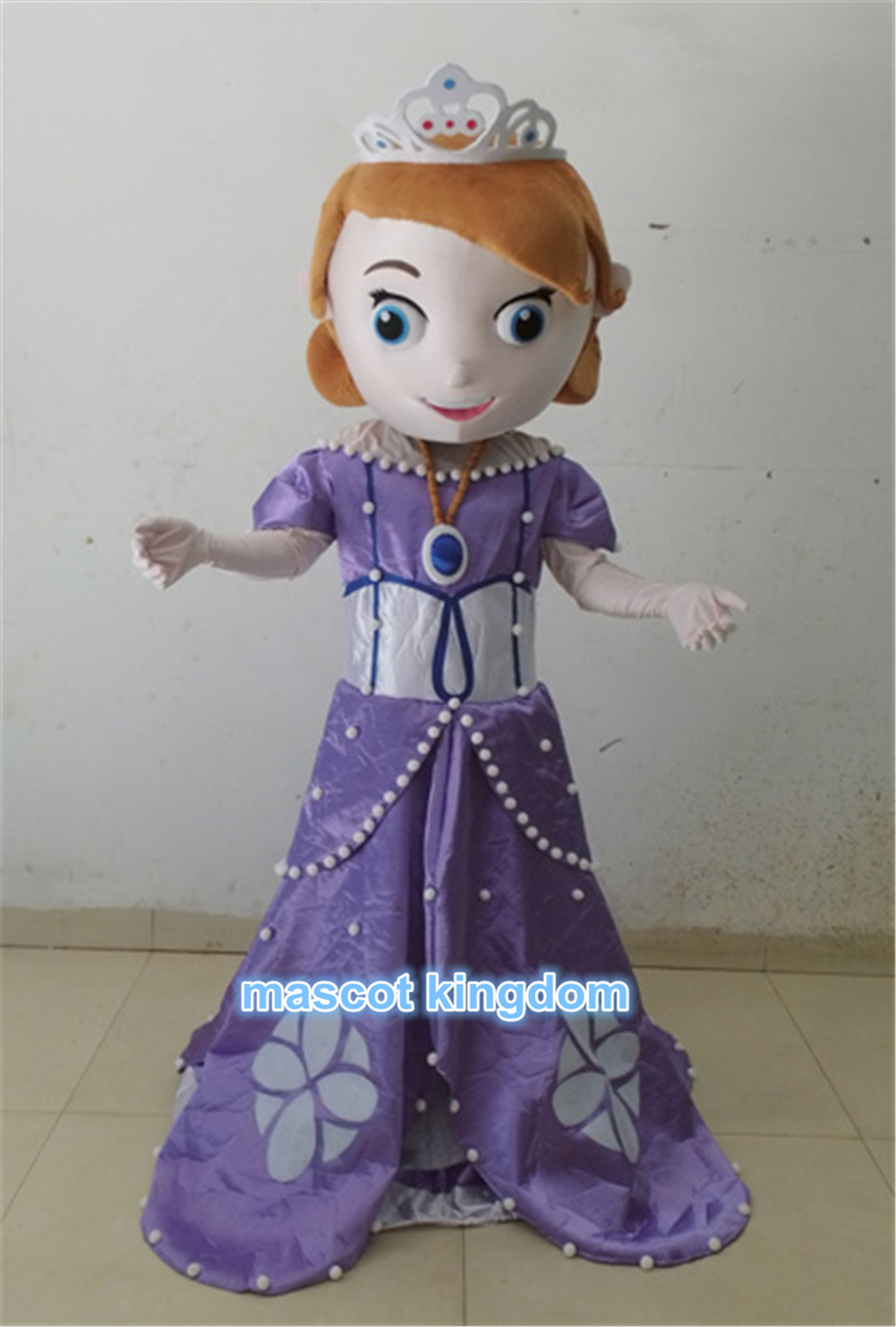 sophia princess mascot costume sofia the first halloween party dress