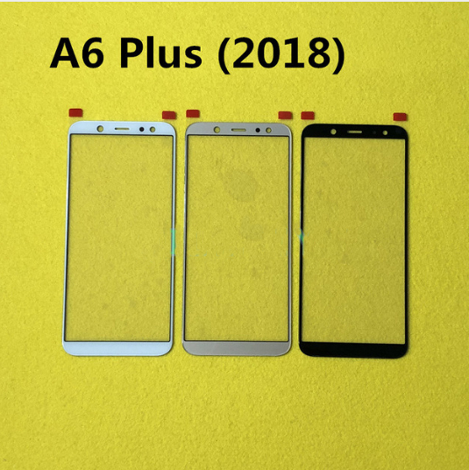 For Samsung Galaxy A6 Plus (2018) Front Outer Screen Glass Lens Replacement