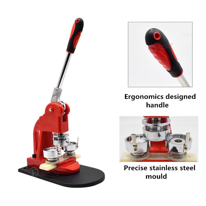 1.45/'/' 37mm Button Maker Badge Punch Press Machine 300PC Parts Supplies DIY Tool