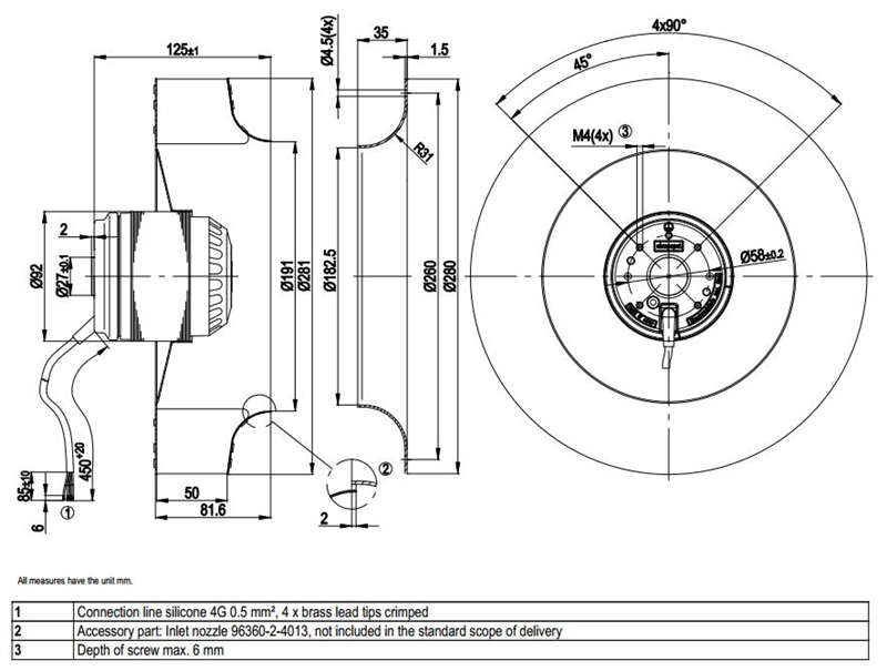 Ebmpapst Centrifugal Fan 230vac For Vfd Heat Dissipation For Servo