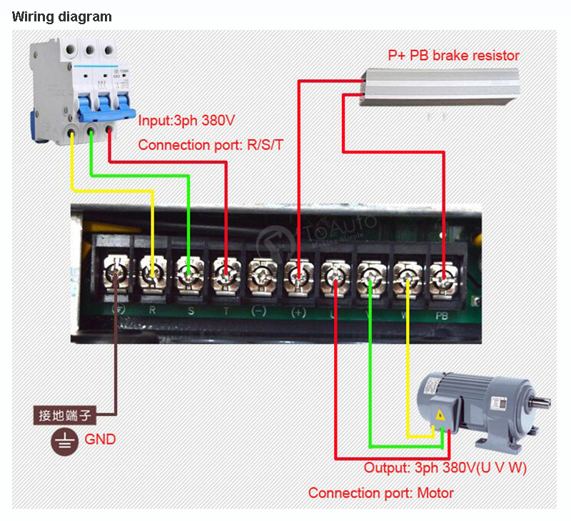 Motor wiring diagram u v w the best wiring diagram 2017 3kw 7 5kw 380v variable frequency drive inverter vfd 4 10hp ce sd asfbconference2016 Image collections