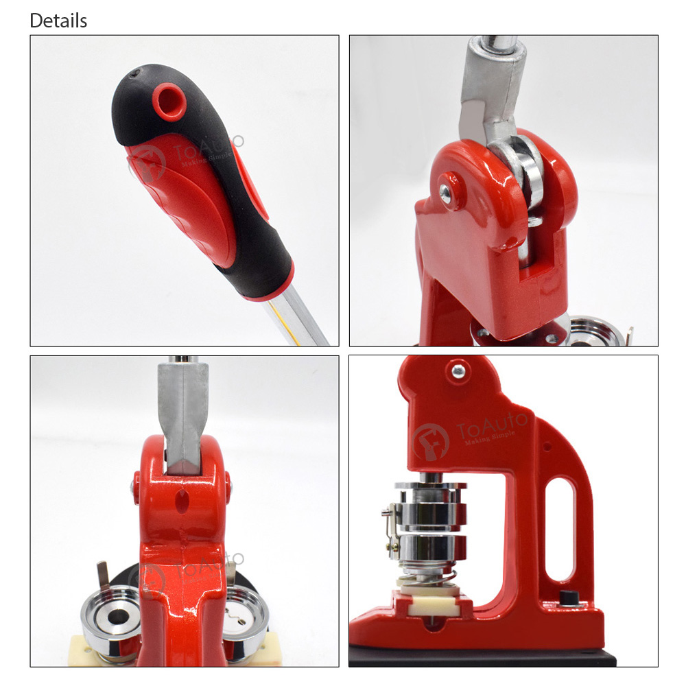 Details about Aluminum Button Maker Machine 37mm 1½ inch Button Pins Punch  Press+Circle Cutter