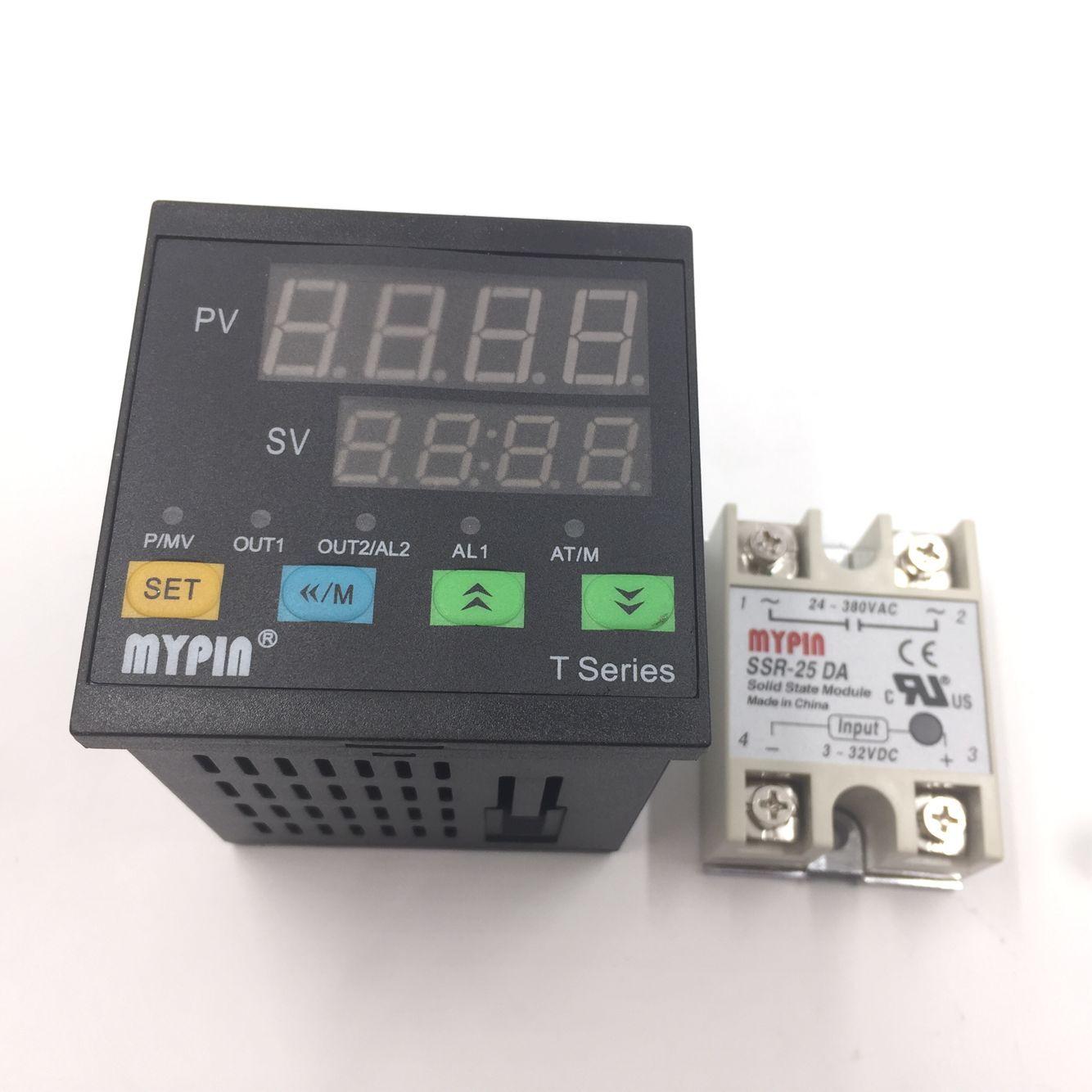 PT100 Sensor Dual Digital F//C 72WX72HX80L PID Temperature Controller TA7-SSR