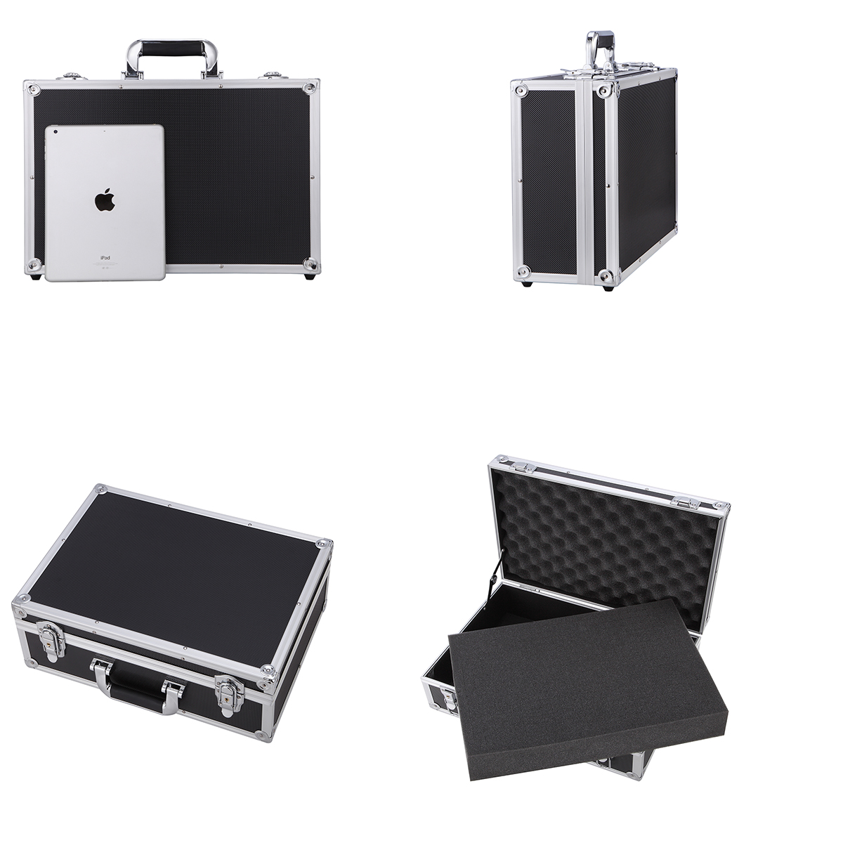 Small Aluminum Business Cases with DIY Foam Hard Briefcase Quick  Lock Toolboxes