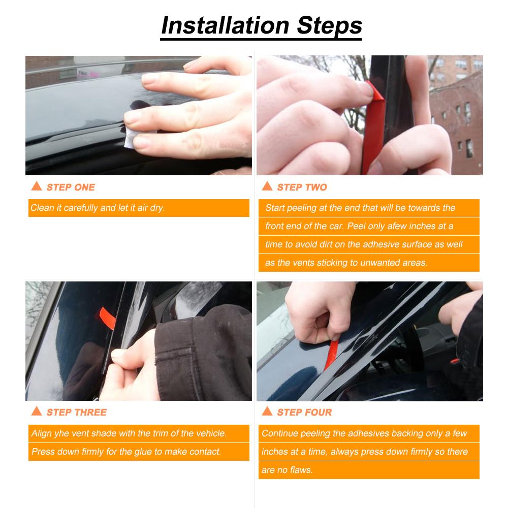 Laprive Auto 4pc Sun//Rain Guard Window Deflector for 02-10 Explorer//Mountaineer 03-05 Aviator 4-Door Vent Shade Window Visors