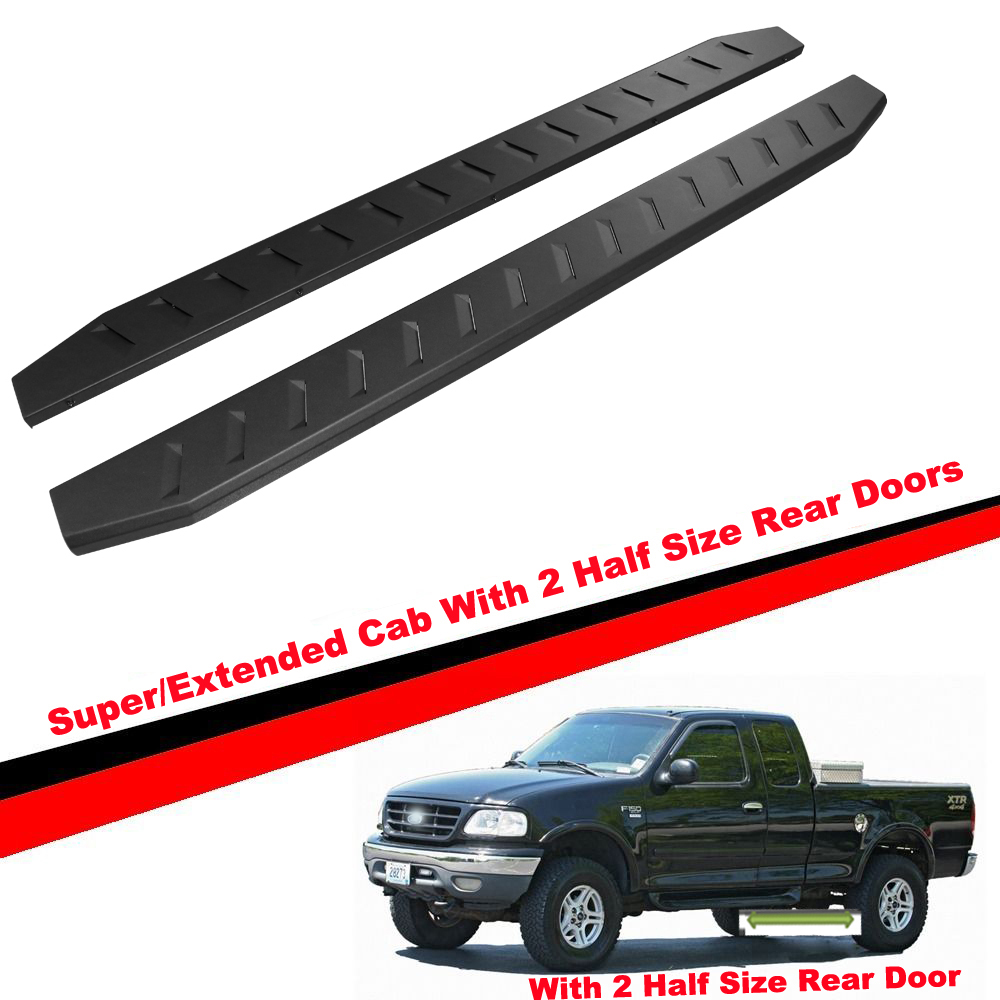 Running Board Style Side Step 6in  Fit Ford F150 Regular Cab//17-19 F250 15-19