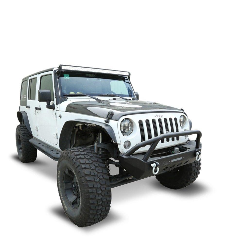 Fit 2007-2019 Jeep Wrangler JK/JL 2/4 Door Front Bumper