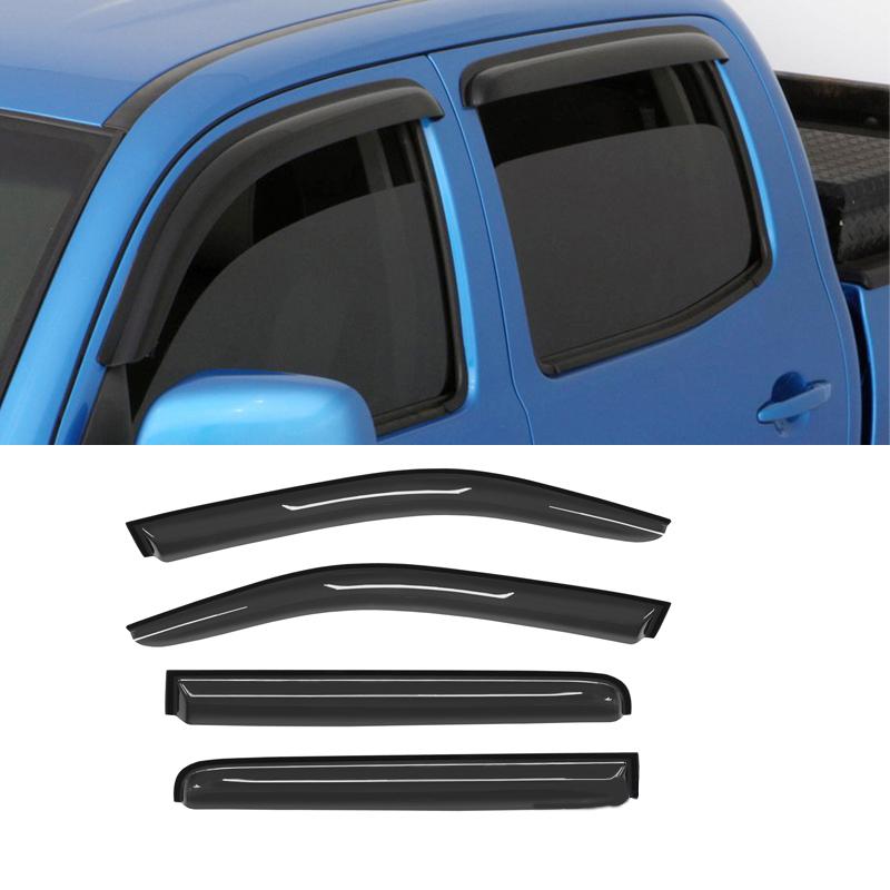 4pcs Sun//Rain Guard Vent Shade Window Visors Fit 05-17 Nissan Frontier Crew Cab