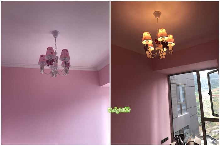 Kids Room Chandelier Girl Princess Bedroom Led Butterfly Lamp ...