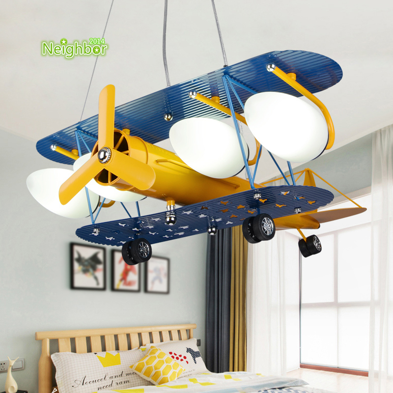 Cartoon Plane Pendant Light Aircraft Children Ceiling Lamp