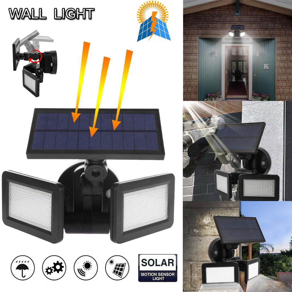 1//2//4 Solarleuchte 100 LED Solarlampe Bewegungsmelder Garden Außen Solarstrahler