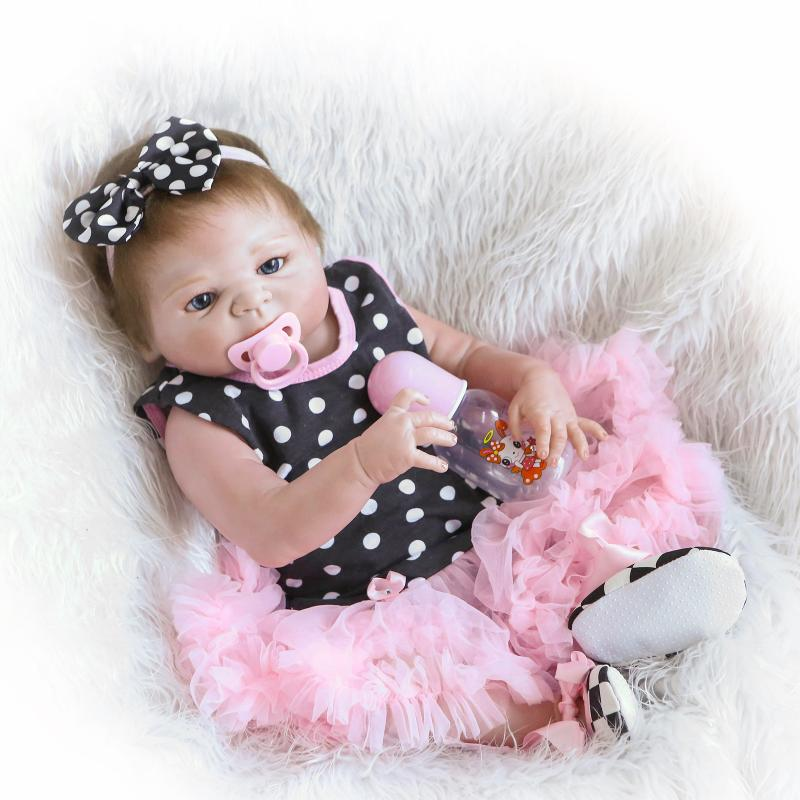 18 Inch//45cm Reborn Doll Baby Girls Children/'s Toy Newborn Lifelike Dolls
