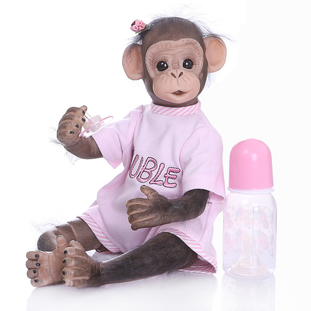 "20/"" Lifelike Soft Silicone Vinyl Reborn Newborn Baby Monkey Boy Doll Toy Gift"