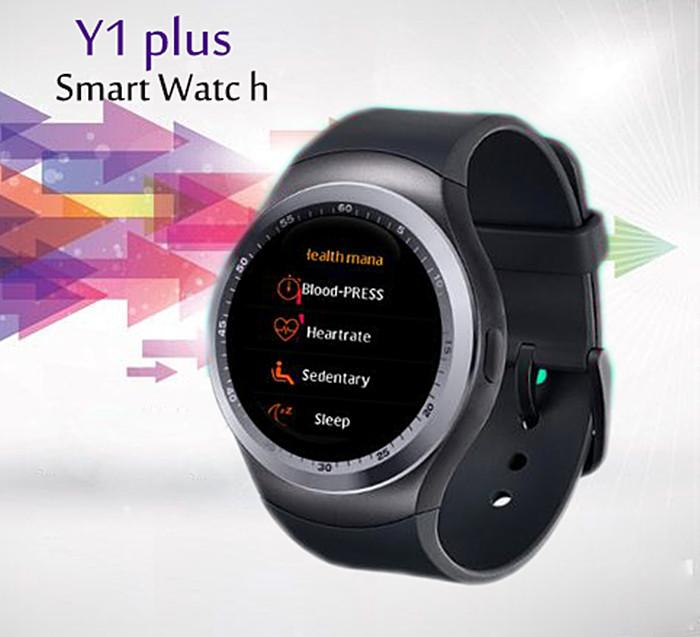 Heart Rate Blood Pressure Monitor Bluetooth Smart Watch Camera IOS Y1 Plus Sport