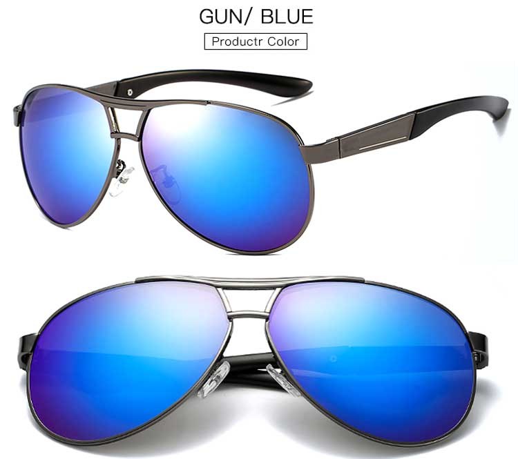 a33b9d0b08 Men s Polarized Metal Pilot Sunglasses Outdoor Glasses Driving Fashion  Eyewear