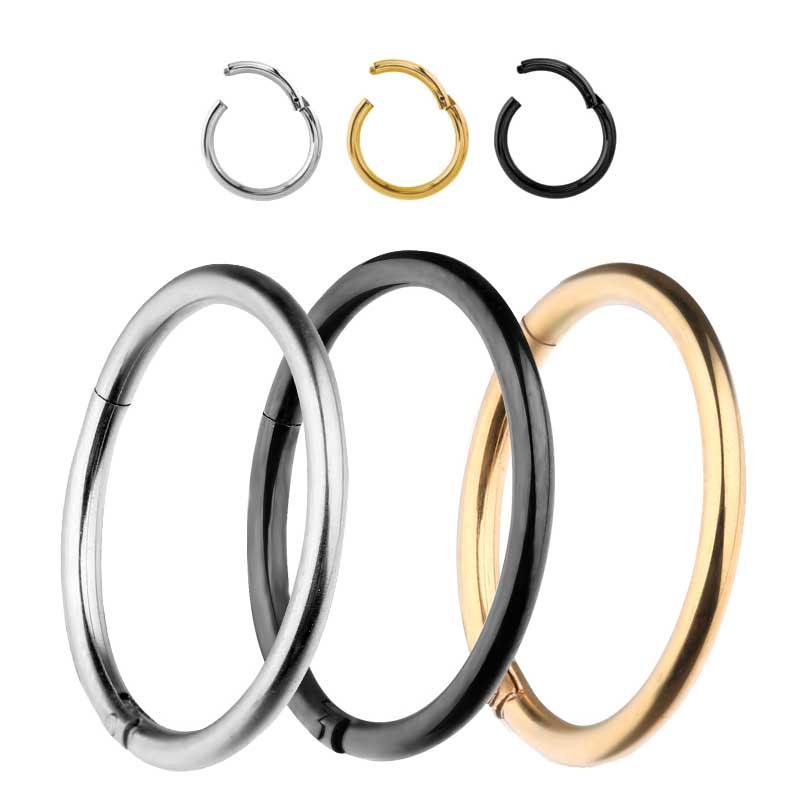 e8d7f1b2b87225 You may also like. Titanium Segment Hinged Ring Lip Nose Piercing Septum  Clicker Hoop Ear Earring