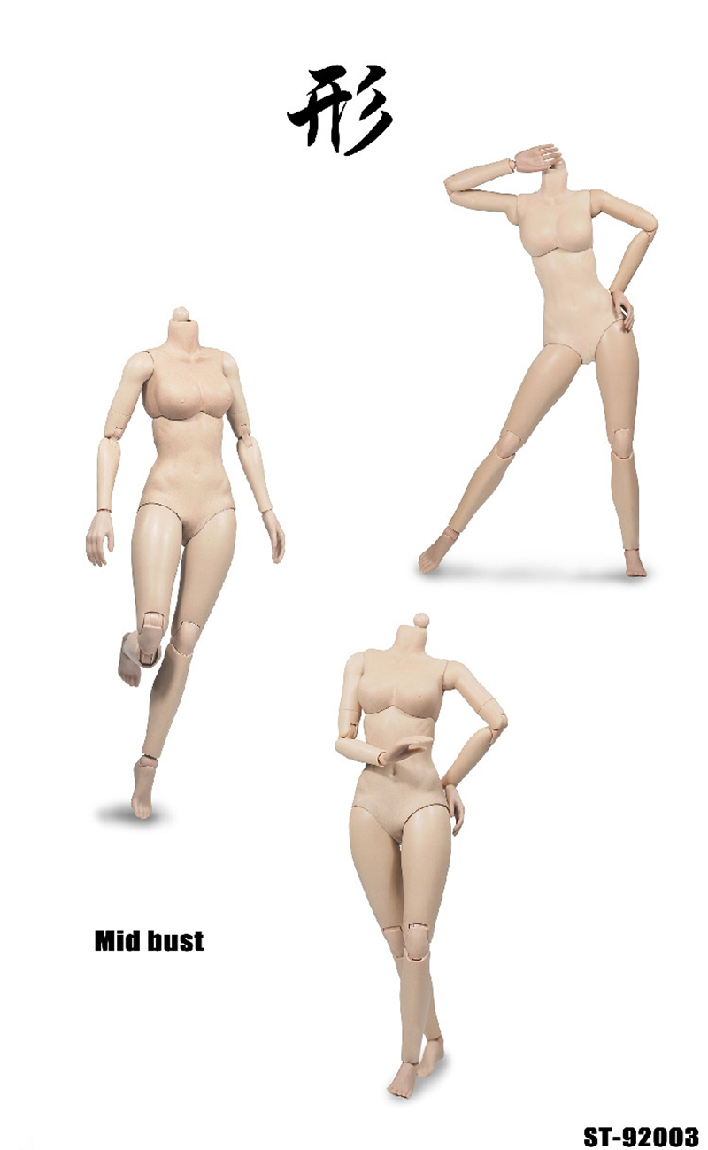 POPTOYS 1//6 Scale Pale Xing Series 92004 Mid Bust Model Female Body Figure