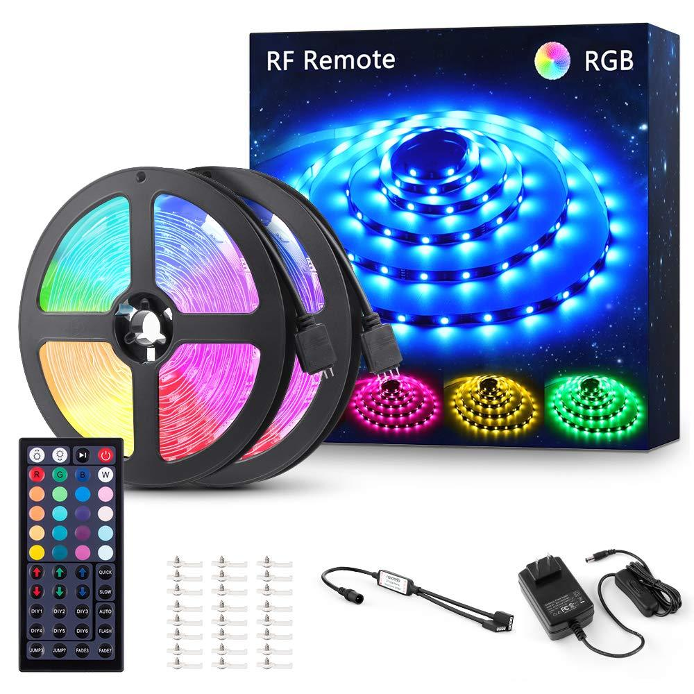 20 40ft Rgb Led Strip Lights 44 Key Rf Remote Control Color Changing 5050smd Kit Ebay If you didn't read any of it and just want some cool led's look to the link right about. novostella