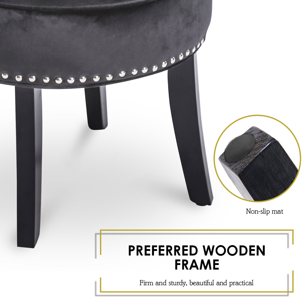 Dressing Chair Vanity Stool Chenille Padded Piano Seat
