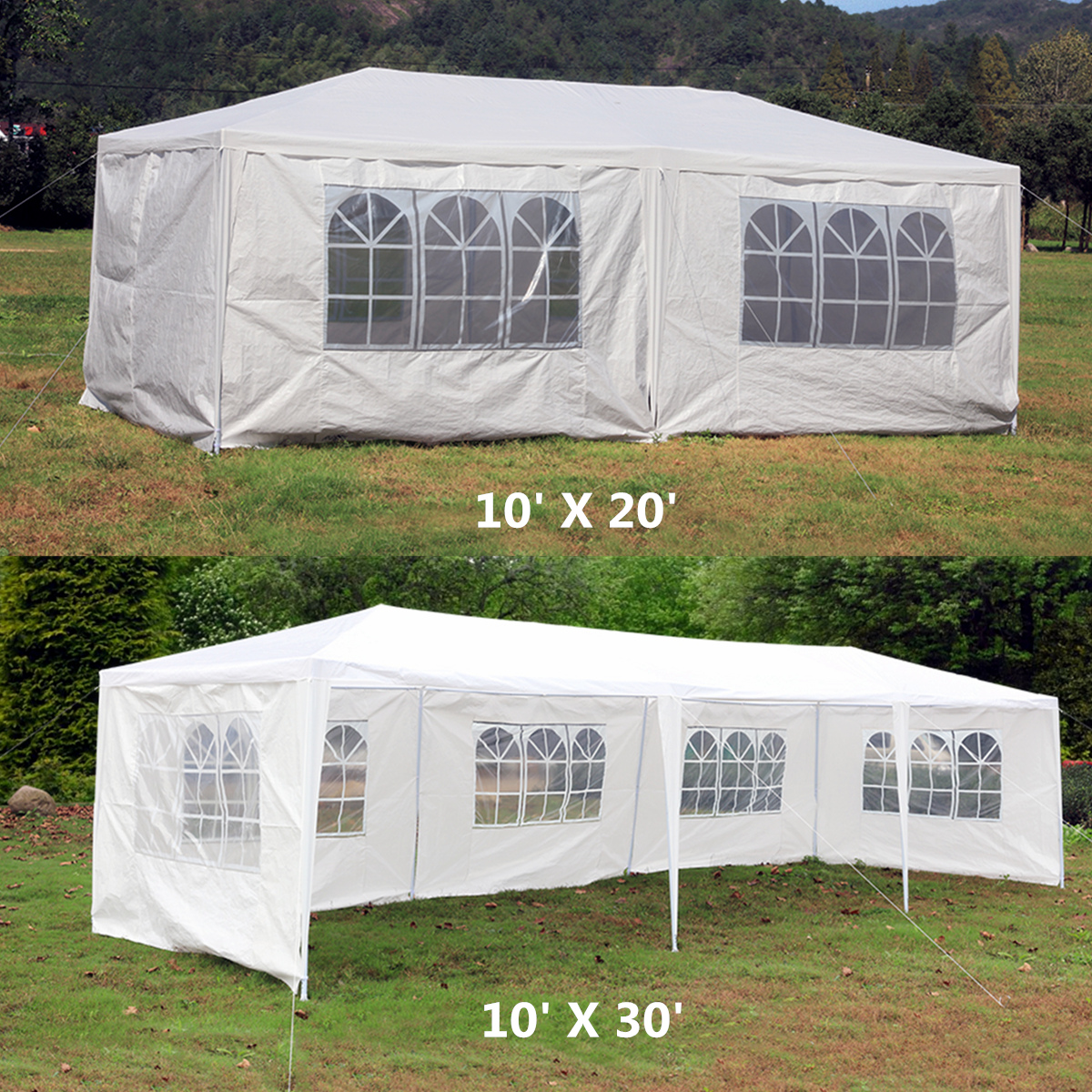 Details about 10u0027x20u0027/30u0027 Wedding Tent Party Garden Outdoor Canopy Heavy Duty Pavilion Event & 10u0027x20u0027/30u0027 Wedding Tent Party Garden Outdoor Canopy Heavy Duty ...