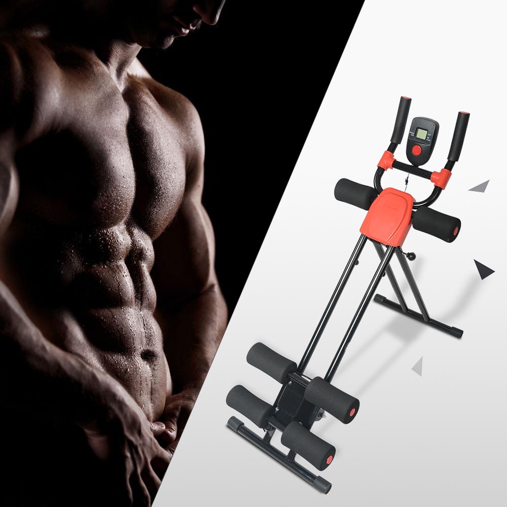 Ab Cruncher Abdominal Trainer Glider Machine Body Fitness Waist Power Exercise 9