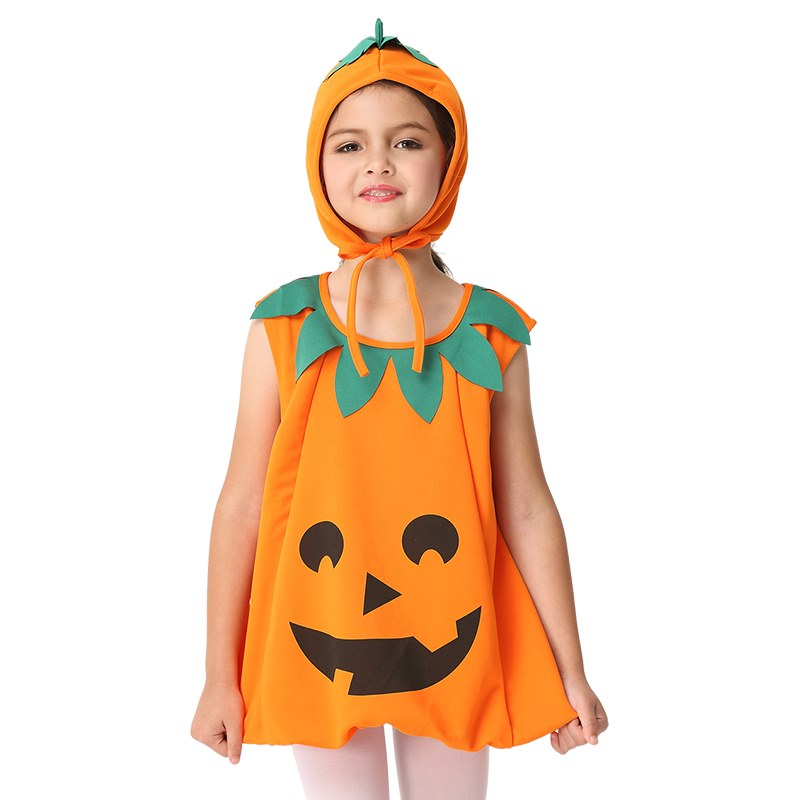 Girls-Kids-Pumpkin-Costumes-Halloween-Cosplay-Christmas-Carnival-  sc 1 st  eBay : pumpkin girl costume  - Germanpascual.Com