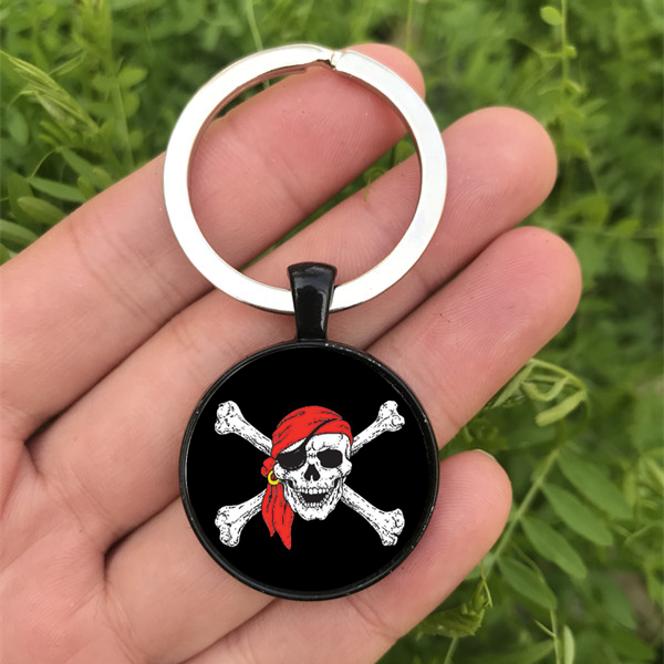 Melting Skull Dome Keyring Glass Cabochon Keychain Purse//Bag Charm