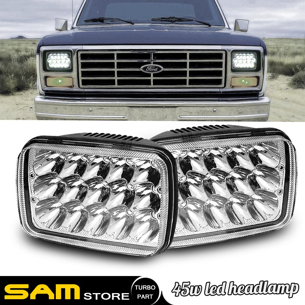 7x6 Led Sealed Beam Headlight For International 4700 4900 1978 1986 Ford F150