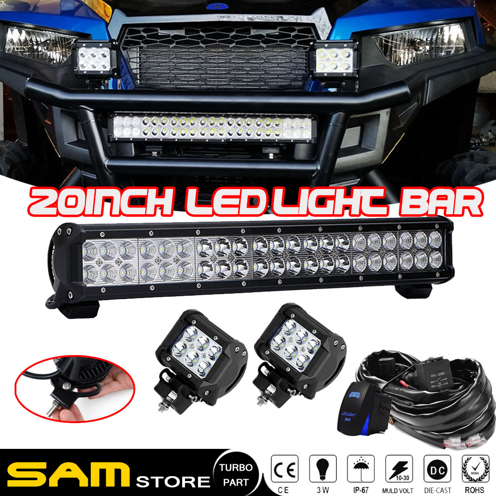 20 U0026quot  Led Light Bar Polaris Xp1000 Xp900 800 Ranger Crew Rzr