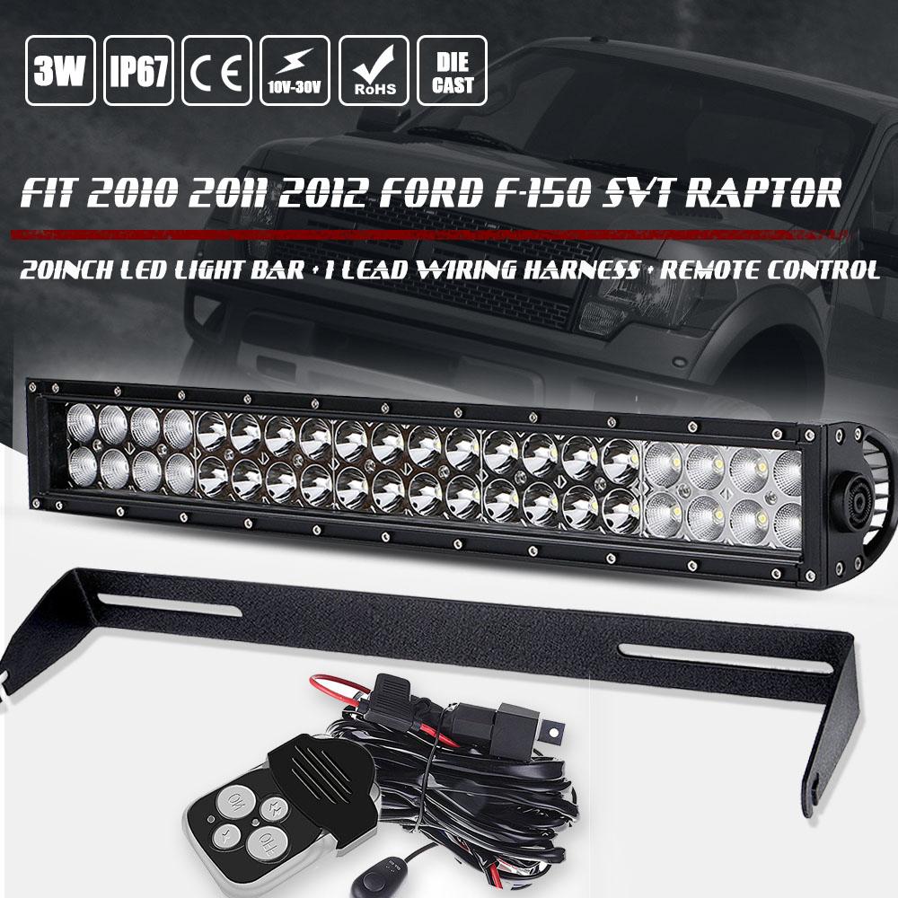 Ford F Svt Raptor  Led Light Bar Bumper Mount Bracket Wiring Ebay