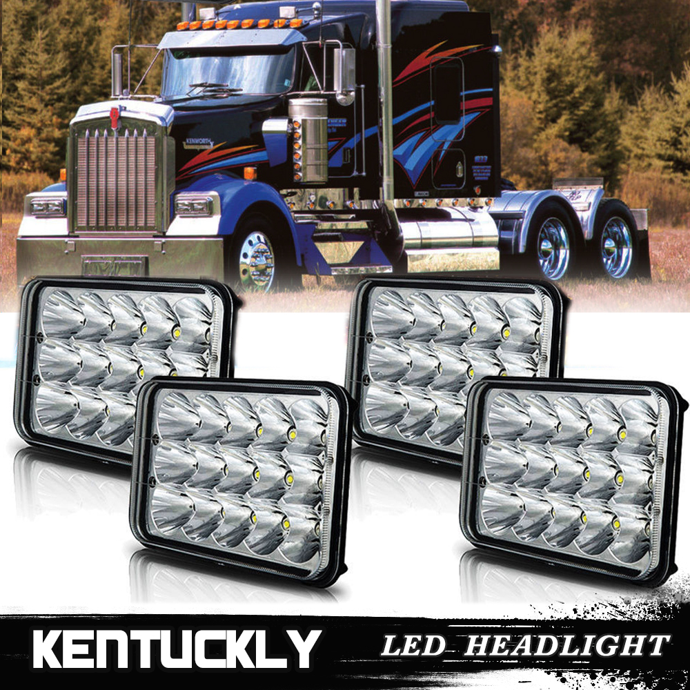 4x high lo beam led headlight for kenworth t400 t600 w900b. Black Bedroom Furniture Sets. Home Design Ideas