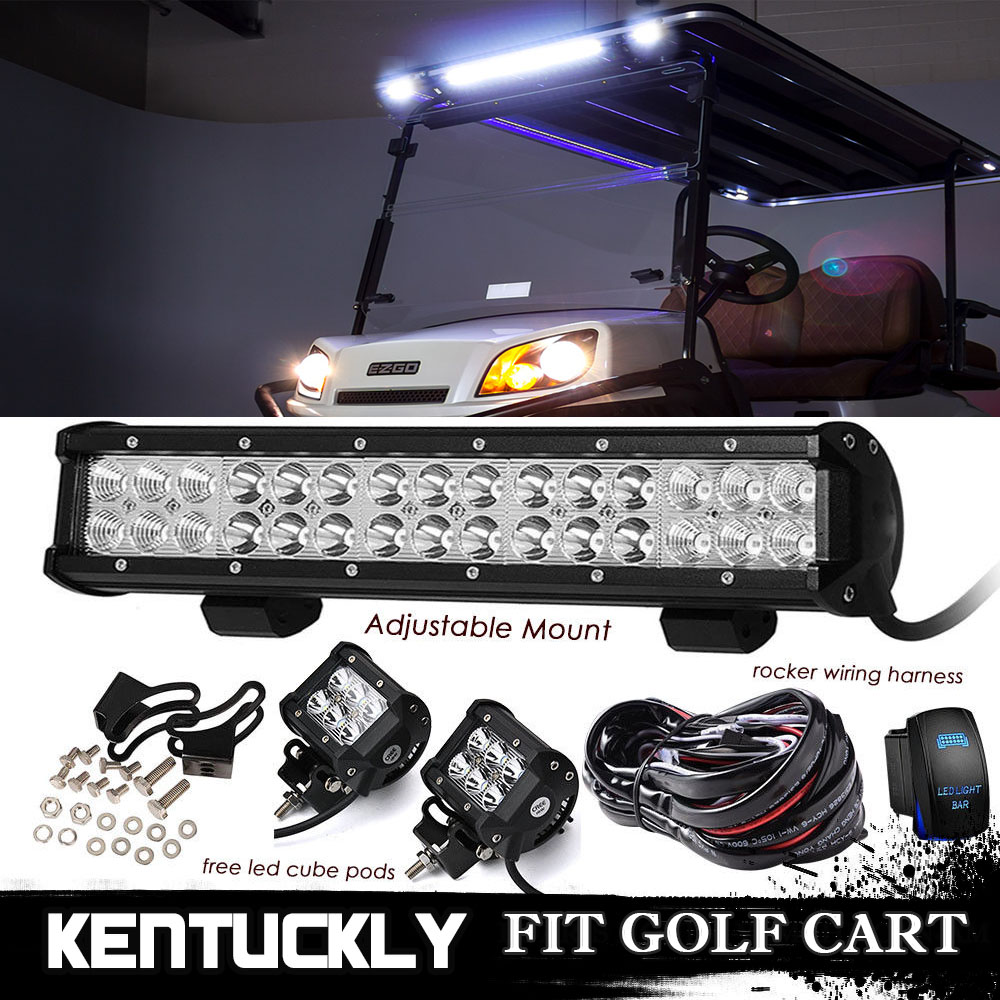 14 15 Inch Bumper Led Light Bar Wiring Kit For Club Car Ezgo Golf Cart Harness Yamaha